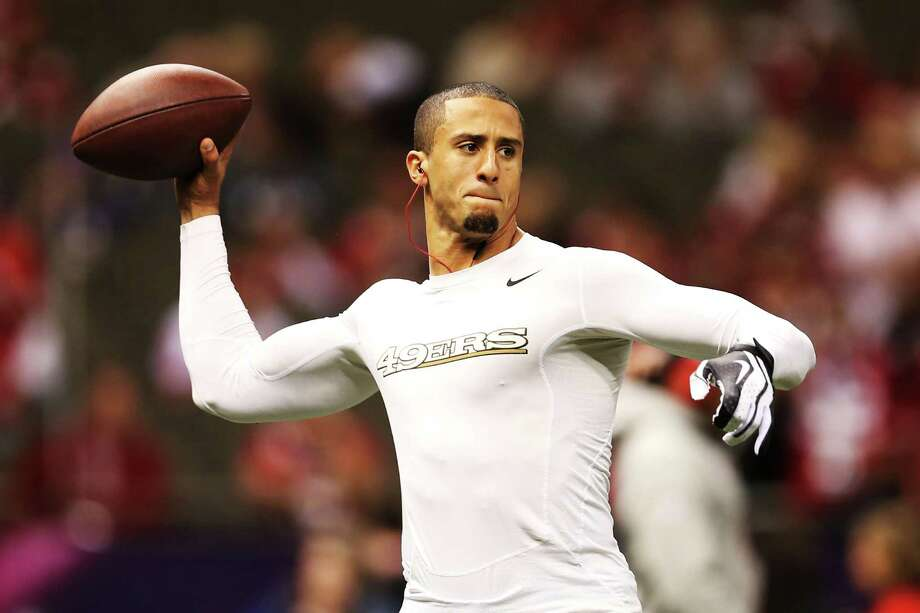Colin Kaepernick prepares for Super Bowl XLVII. Photo: Christian Petersen, Getty Images / 2013 Getty Images