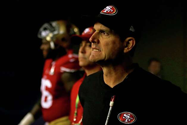 NEW ORLEANS, LA - FEBRUARY 03: Head coach Jim Harbaugh of the San Francisco 49ers waits to take the field with his team prior to Super Bowl XLVII against the Baltimore Ravens at the Mercedes-Benz Superdome on February 3, 2013 in New Orleans, Louisiana. Photo: Ezra Shaw, Getty Images / 2013 Getty Images
