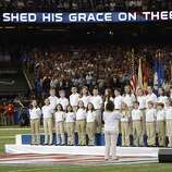 Members of the Sandy Hook Elementary School Chorus sing America The Beautiful  before Super Bowl XLVII between the San Francisco 49ers and the Baltimore Ravens at the Mercedes-Benz Superdome on February 3, 2013 in New Orleans, Louisiana. AFP PHOTO / TIMOTHY A. CLARYTIMOTHY A. CLARY/AFP/Getty Images