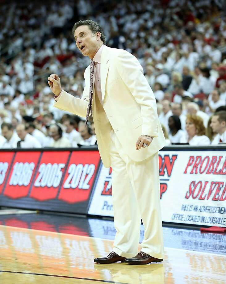 "Rick Pitino went with the Cardinals' ""White Out"" promotion and he saw his team prevail. Photo: Andy Lyons, Getty Images"