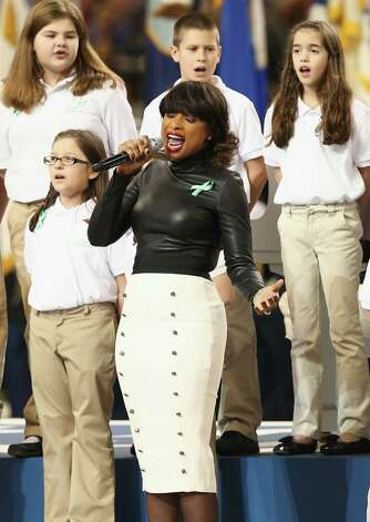 NEW ORLEANS, LA - FEBRUARY 03:  A group of 26 students from the Sandy Hook Elementary School in Newtown, Connecticut perform America the Beautiful with singer Jennifer Hudson during the Pepsi Super Bowl XLVII Pregame Show at Mercedes-Benz Superdome on February 3, 2013 in New Orleans, Louisiana.  (Photo by Christopher Polk/Getty Images) Photo: Christopher Polk, Getty Images / 2013 Getty Images