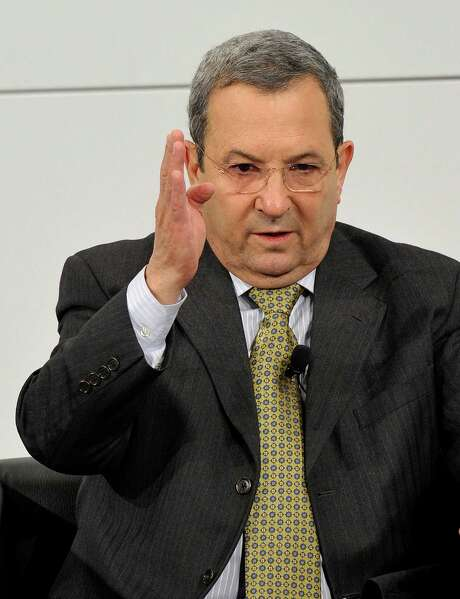Israel's Deputy Prime Minister and Minister of Defence Ehud Barak gestures during a podium discussion on the third day of the 49th Munich Security Conference on February 3, 2013 in Munich, southern Germany as world leaders, ministers and top military gather for talks with the spotlight on Syria, Mali and Iran.  AFP PHOTO/THOMAS KIENZLETHOMAS KIENZLE/AFP/Getty Images Photo: THOMAS KIENZLE, AFP/Getty Images / AFP