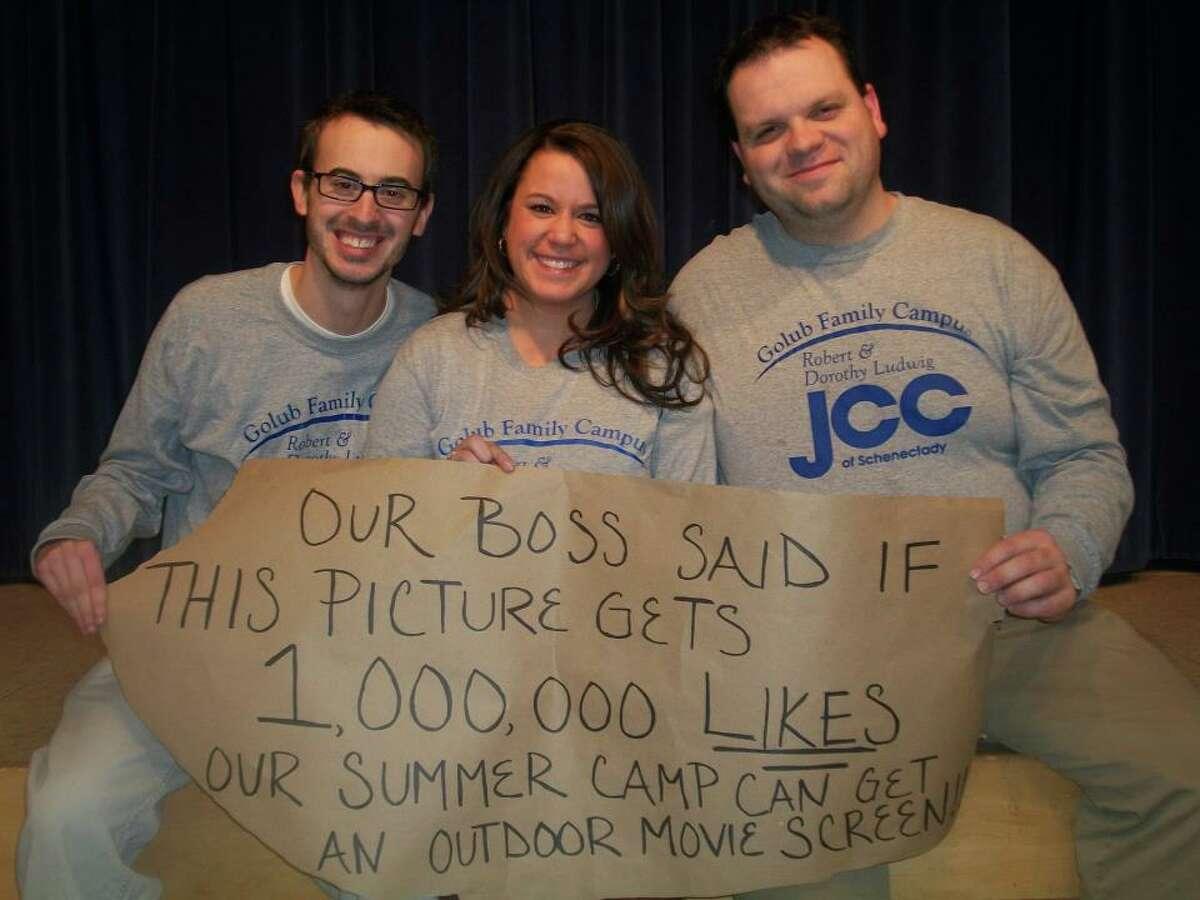 Photo of three JCC of Schenectady staffers.