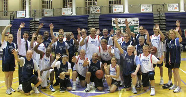 The congressional basketball team, featuring Houston's own Rep. Gene Green.
