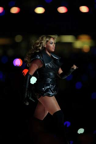Singer Beyonce performs during the Pepsi Super Bowl XLVII Halftime Show at the Mercedes-Benz Superdome on February 3, 2013 in New Orleans, Louisiana. Photo: Mike Ehrmann, Getty / 2013 Getty Images
