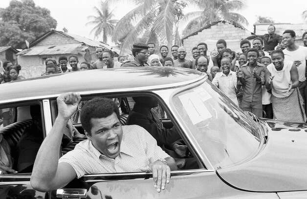 Boxer Muhammad Ali on a sightseeing tour downtown Kinshasa, Zaire  September 17, 1974. Photo: ASSOCIATED PRESS / AP1974