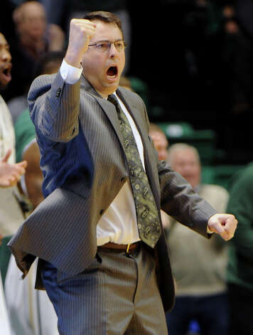 UAB Coach Jerod Haase reacts to action in the second half of aN NCAA college basketball game against Southern Mississippi at Bartow Arena in Birmingham, Ala., Saturday, Feb. 2, 2013.  (AP Photo/ AL.com, Mark Almond) Photo: Mark Almond