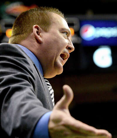 Southern Mississippi coach Donnie Tyndall reacts to action in the first half of an NCAA college basketball game against UAB at Bartow Arena in Birmingham, Ala., Saturday, Feb. 2, 2013.  (AP Photo/AL.com, Mark Almond) Photo: Mark Almond
