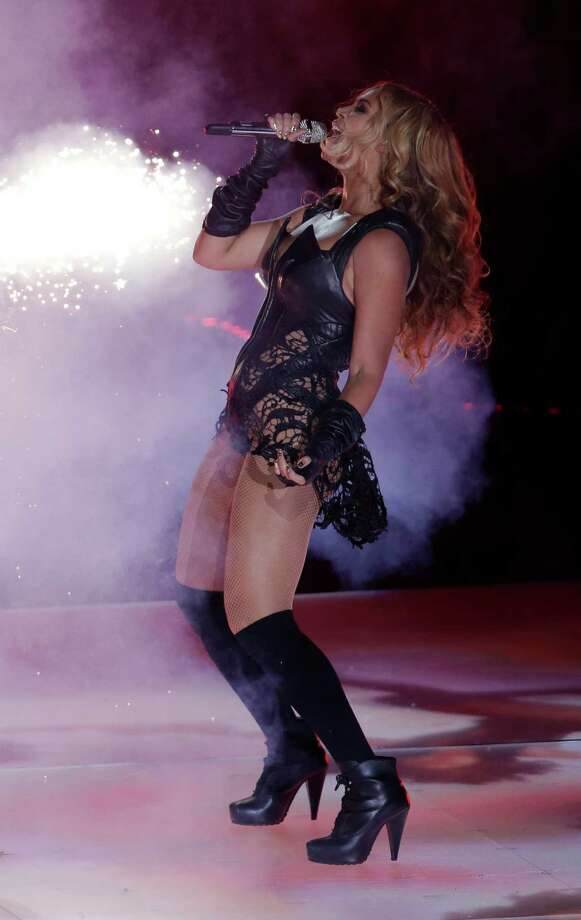 Beyonce performs during the halftime show of the NFL Super Bowl XLVII football game Sunday, Feb. 3, 2013, in New Orleans. Photo: AP