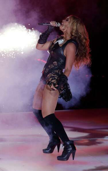 Beyonce performs during the halftime show of the NFL Super Bowl XLVII football game Sunday, Feb. 3,