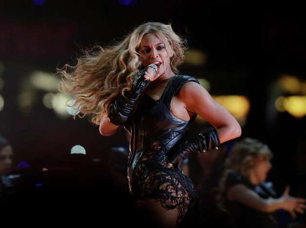 Beyonce performs during the halftime show of  the NFL Super Bowl XLVII football game between the San Francisco 49ers and the Baltimore Ravens, Sunday, Feb. 3, 2013, in New Orleans. Photo: AP