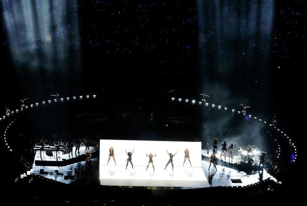 Destiny's Child performs during the halftime show of  the NFL Super Bowl XLVII football game between the San Francisco 49ers and the Baltimore Ravens, Sunday, Feb. 3, 2013, in New Orleans. Photo: AP
