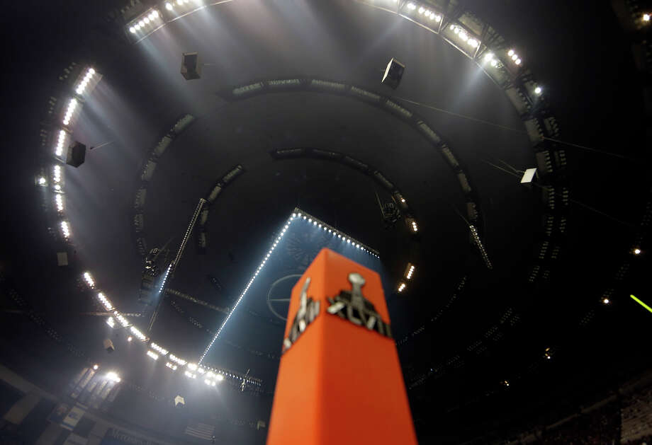 The Superdome is seen after the lights went out during the second half of NFL Super Bowl XLVII football game Beyonce performs during the halftime show of Sunday, Feb. 3, 2013, in New Orleans. (AP Photo/Dave Martin) Photo: Dave Martin, ASSOCIATED PRESS / AP2013