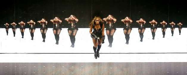 Singer Beyonce performs during the Pepsi Super Bowl XLVII Halftime Show at the Mercedes-Benz Superdome on February 3, 2013 in New Orleans, Louisiana. (Photo by Chris Graythen/Getty Images)