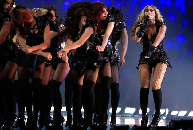 Singer Beyonce performs during the Pepsi Super Bowl XLVII Halftime Show at the Mercedes-Benz Superdome on February 3, 2013 in New Orleans, Louisiana. (Photo by Jamie Squire/Getty Images)