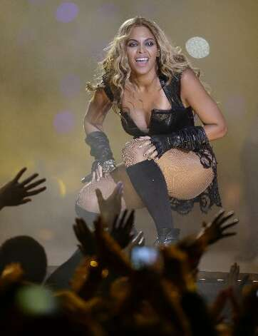 Beyonce performs during the halftime show of the NFL Super Bowl XLVII football game between the San Francisco 49ers and the Baltimore Ravens, Sunday, Feb. 3, 2013, in New Orleans. (AP Photo/David Goldman)