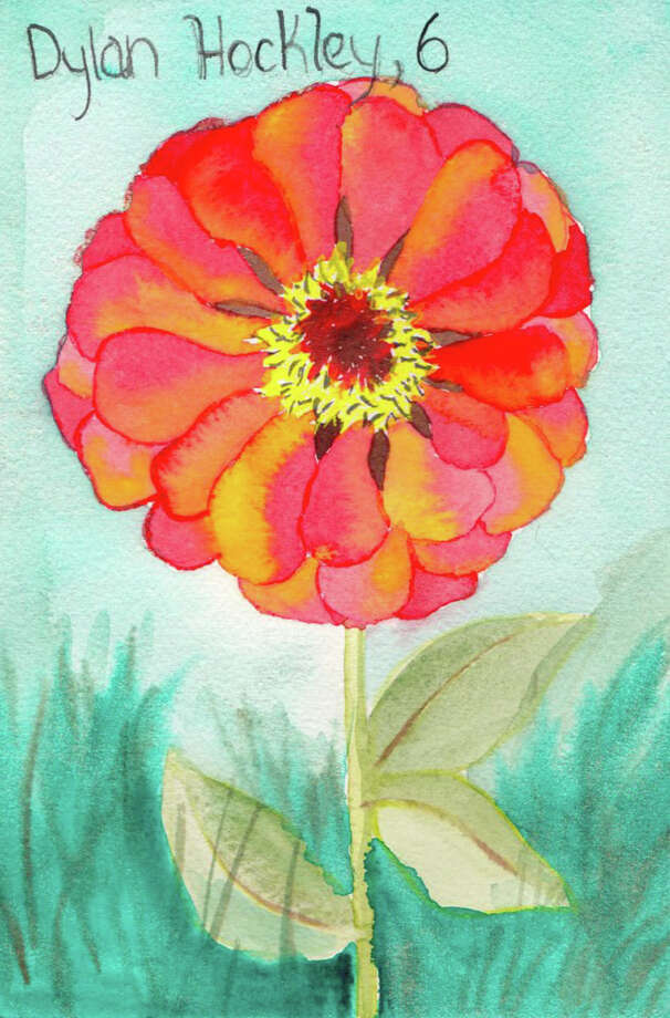 Painting for Sandy Hook victim Dylan Hockley, age 6, by Pamela Hollinde, a substitute art teacher at Greenville Elementary.  Hollinde created 26 watercolor flower paintings as a way to memorialize the victims of Sandy Hook in Newtown, Conn. She sent the paints down to Newtown this this week. (Pamela Hollinde)