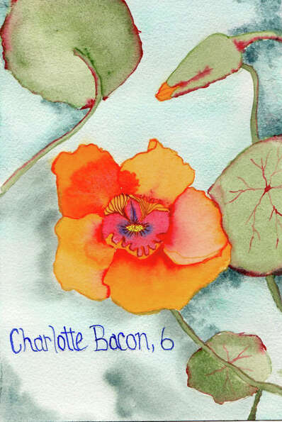 Painting for Sandy Hook victim Charlotte Bacon, age 6, by Pamela Hollinde, a substitute art teacher