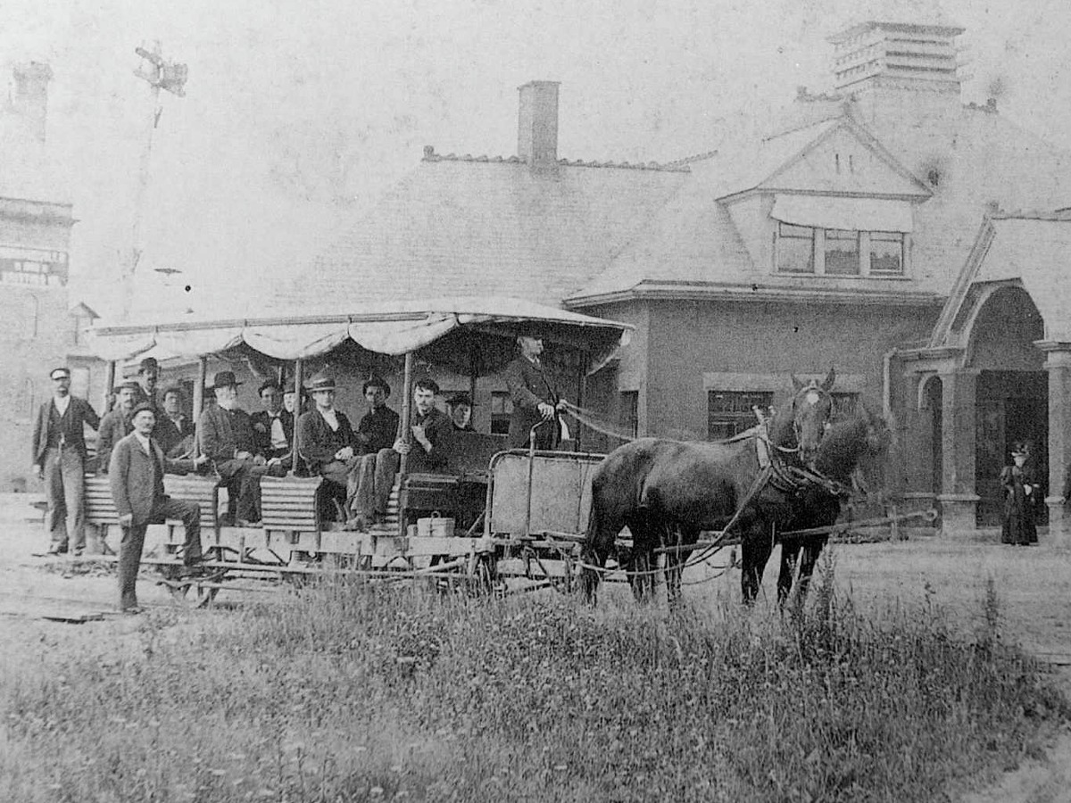Historic photograph of the old train station in Mechanicville, N.Y. (Photo courtesy of Anthony Sylvester)