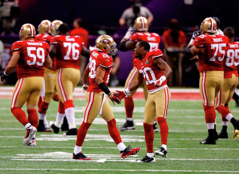 Superbowl XLVII between the San Francisco 49ers and the Baltimore Ravens at the Mercedes-Benz Superd