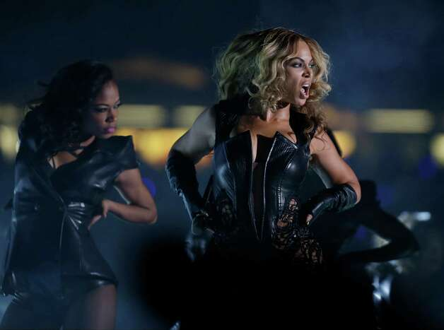 Beyonce performs during the halftime show of  the NFL Super Bowl XLVII football game between the San Francisco 49ers and the Baltimore Ravens, Sunday, Feb. 3, 2013, in New Orleans. (AP Photo/Matt Slocum) Photo: Matt Slocum