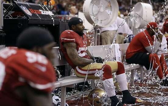 San Francisco 49ers linebacker NaVorro Bowman (53) sits on the bench after losing 34-31 to the Baltimore Ravens in the NFL Super Bowl XLVII football game, Sunday, Feb. 3, 2013, in New Orleans. (AP Photo/David Goldman) Photo: David Goldman, Associated Press