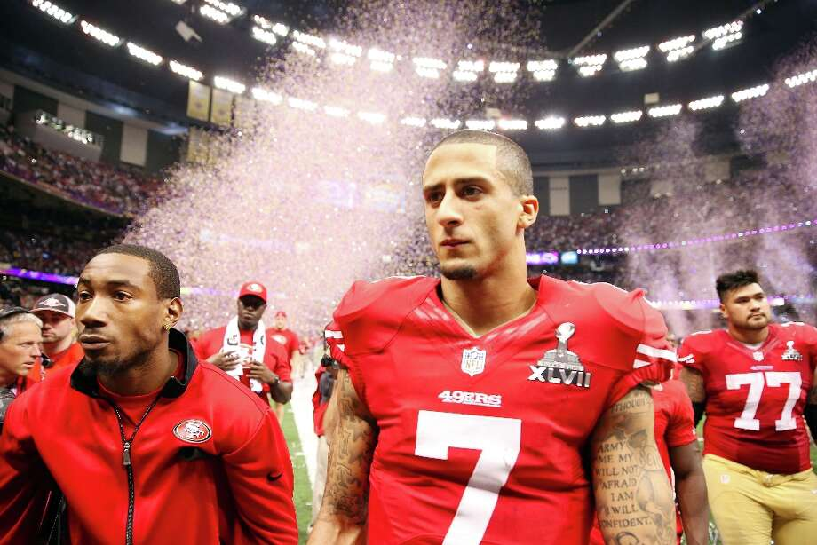 Colin Kaepernick #7 of the San Francisco 49ers walks off the field after losing against the Baltimore Ravens in Super Bowl XLVII at the Mercedes-Benz Superdome on February 3, 2013 in New Orleans, Louisiana. Photo: Christian Petersen, Getty Images / 2013 Getty Images