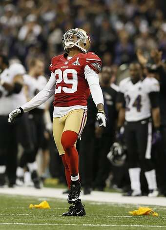 Cornerback Chris Culliver (29) during the fourth quarter of Superbowl XLVII between the San Francisco 49ers and the Baltimore Ravens at the Mercedes-Benz Superdome on Sunday February 3, 2013 in New Orleans, La. Photo: Michael Macor, The Chronicle