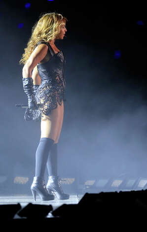 Singer Beyonce was the center of attention at halftime. Photo: Jamie Squire / 2013 Getty Images
