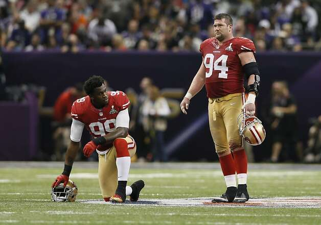 Aldon and Justin Smith, mainstays of the defense, will have a chance to get healthy in the offseason and come back strong. Photo: Michael Macor, The Chronicle
