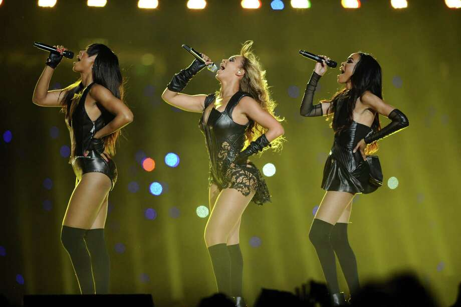 Beyonce and a reunited Destiny's Child performs during halftime of Super Bowl XLVII at the Mercedes-Benz Superdome in New Orleans, Louisiana, Sunday, February 3, 2013. (Lionel Hahn/Abaca Press/MCT) Photo: Lionel Hahn, MBR / Abaca Press