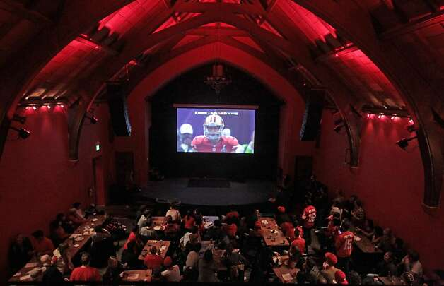 Forty-Niner fans watch the Super Bowl at The Chapel in San Francisco on Sunday, Feb. 3, 2013. Photo: Mathew Sumner, Special To The Chronicle