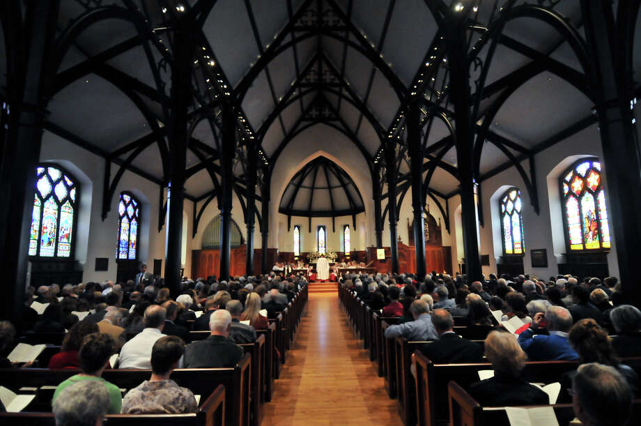 All of the pews were full for the rededication ceremony at St. Mark's Episcopal Church Sunday morning, Feb. 3, 2013, following a $15 million renovation to the historic downtown church. Photo: Robin Jerstad, For The Express-News