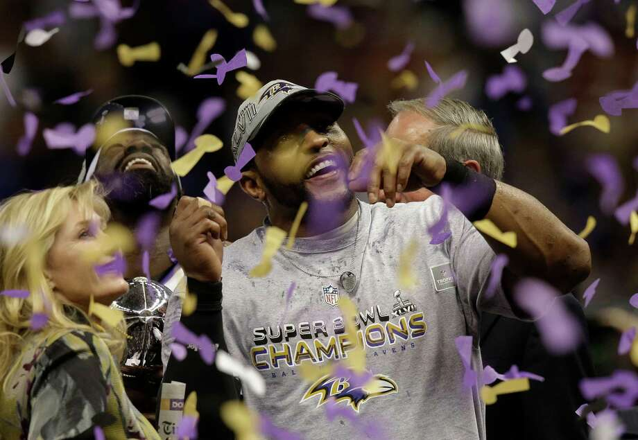 Baltimore Ravens linebacker Ray Lewis celebrates after defeating the San Francisco 49ers 34-31 in the NFL Super Bowl XLVII football game, Sunday, Feb. 3, 2013, in New Orleans. (AP Photo/Gene Puskar) Photo: Gene Puskar