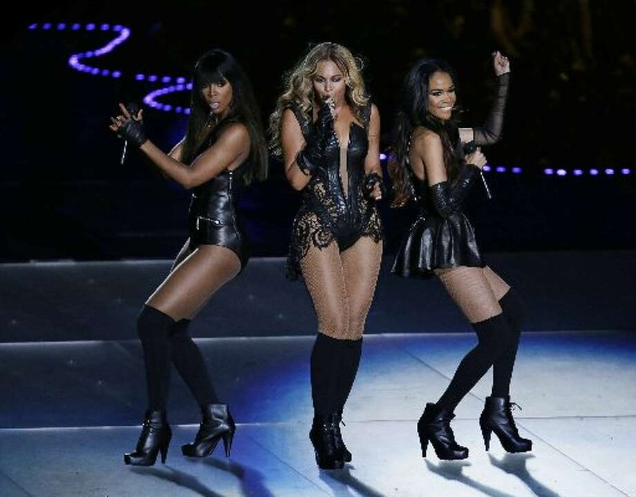 Beyonce with Kelly Rowland, left, and Michelle Williams, perform at Super Bowl XLVII. (AP/Gerald Herbert)