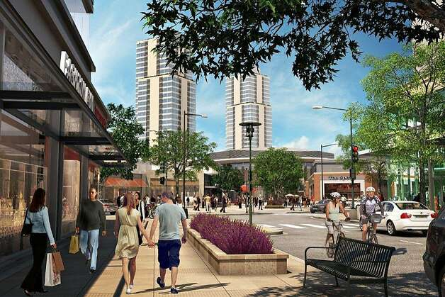 Artist's rendering of a proposed shopping development that would replace Candlestick Park. Photo: -, Lennar Urban