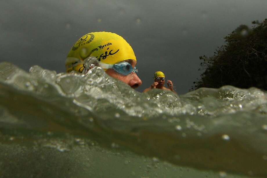 Swimmers race during the 2013 Cole Classic at Shelly Beach on February 3, 2013 in Manly, Australia. Photo: Cameron Spencer, Getty Images