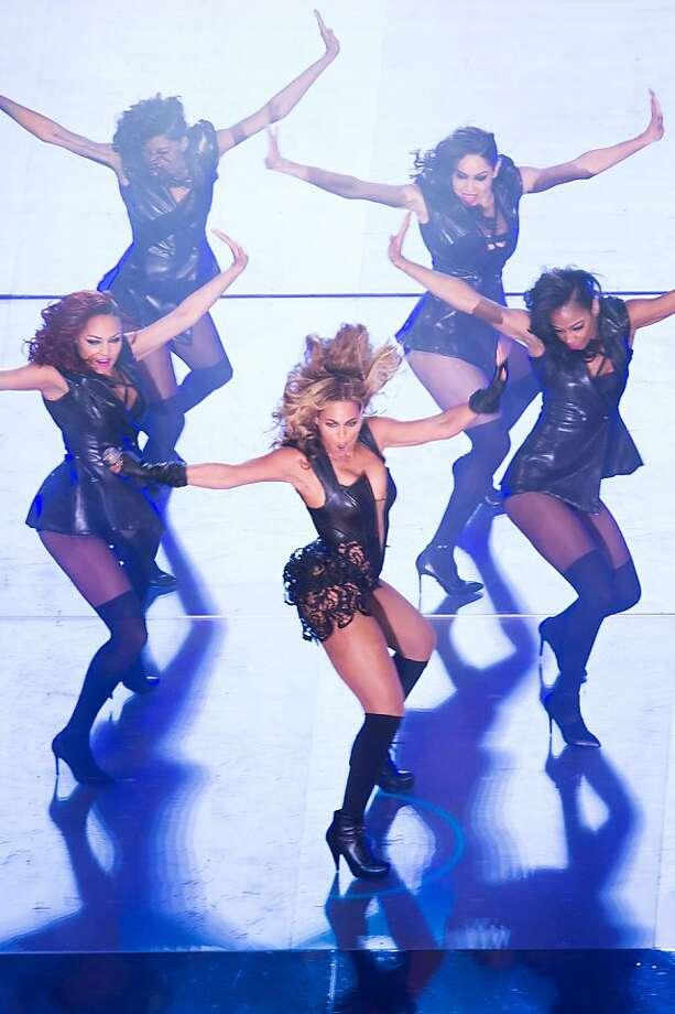 Beyonce performs during halftime of Super Bowl XLVII at the Mercedes-Benz Superdome on Sunday, Feb. 3, 2013, in New Orleans. Photo: Smiley N. Pool, Chronicle
