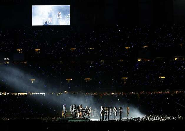 Beyonce performs at halftime during Superbowl XLVII between the San Francisco 49ers and the Baltimore Ravens at the Mercedes-Benz Superdome on Sunday February 3, 2013 in New Orleans, La. Photo: Carlos Avila Gonzalez, The Chronicle