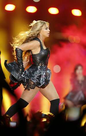 Beyonce performs during halftime at Superbowl XLVII between the San Francisco 49ers and the Baltimore Ravens at the Mercedes-Benz Superdome on Sunday February 3, 2013 in New Orleans, La. Photo: Brant Ward, The Chronicle