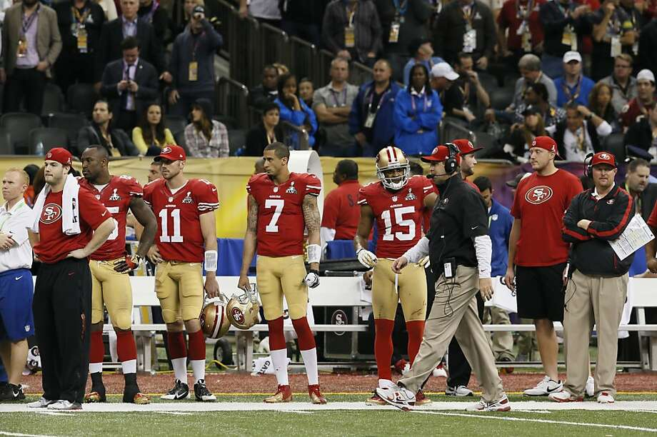 The 49er bench late in the fourth quarteras the San Francisco 49ers fall to the Baltimore Ravens 34-31 in Superbowl XLVII at the Mercedes-Benz Superdome in New Orleans, La. on Sunday Feb. 3, 2013. Photo: Michael Macor, The Chronicle