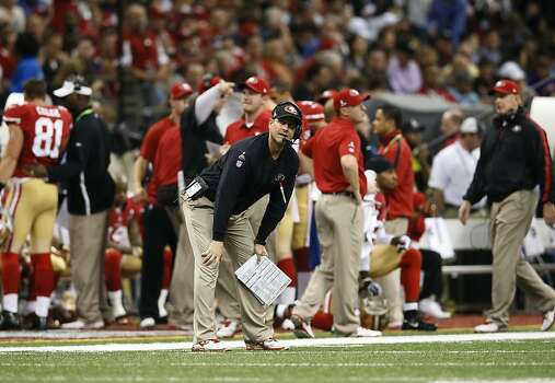 San Francisco 49ers head coach Jim Harbaugh during the first half of Superbowl XLVII between the San Francisco 49ers and the Baltimore Ravens at the Mercedes-Benz Superdome on Sunday February 3, 2013 in New Orleans, La. Photo: Michael Macor, The Chronicle