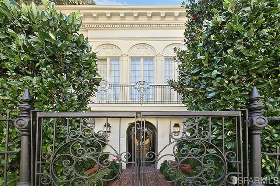 Located at 1055 Green Street atop Russian Hill, this Julia Morgan designed home is asking $7.95 million.