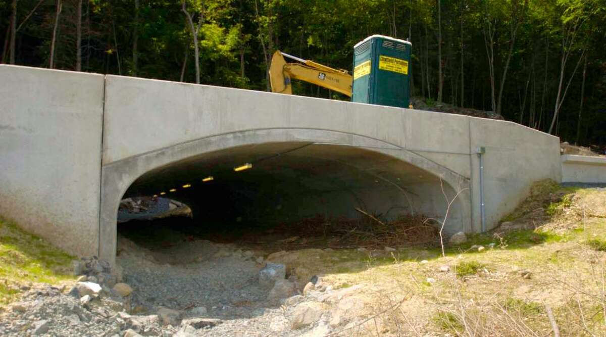 David W. Harple / staff photographer This wildlife tunnel was added to the Route 7 expansion as a way for animals such as turtles to safely migrate through the highway area.