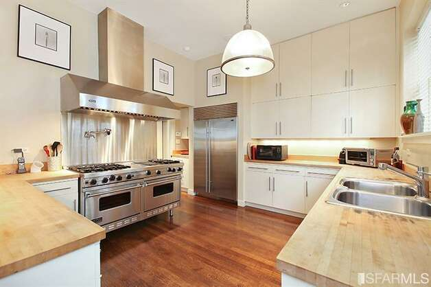 Kitchen with commercial stove