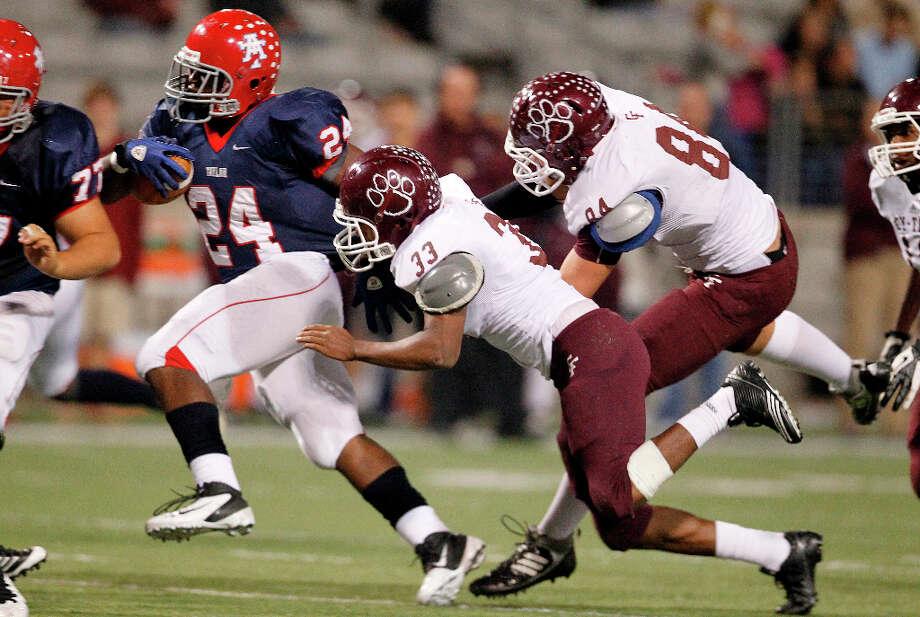 Trevorris Johnson, RBSchool: Alief TaylorHT: 5-11 WT: 205 Signed to: TCU  Photo: Mayra Beltran, Houston Chronicle / © 2012 Houston Chronicle