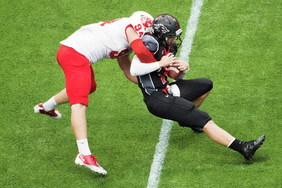 Matt Dimon, DLSchool: KatyHT: 6-3 WT: 252Signed to: Oklahoma Photo: Smiley N. Pool, Houston Chronicle / © 2012  Houston Chronicle