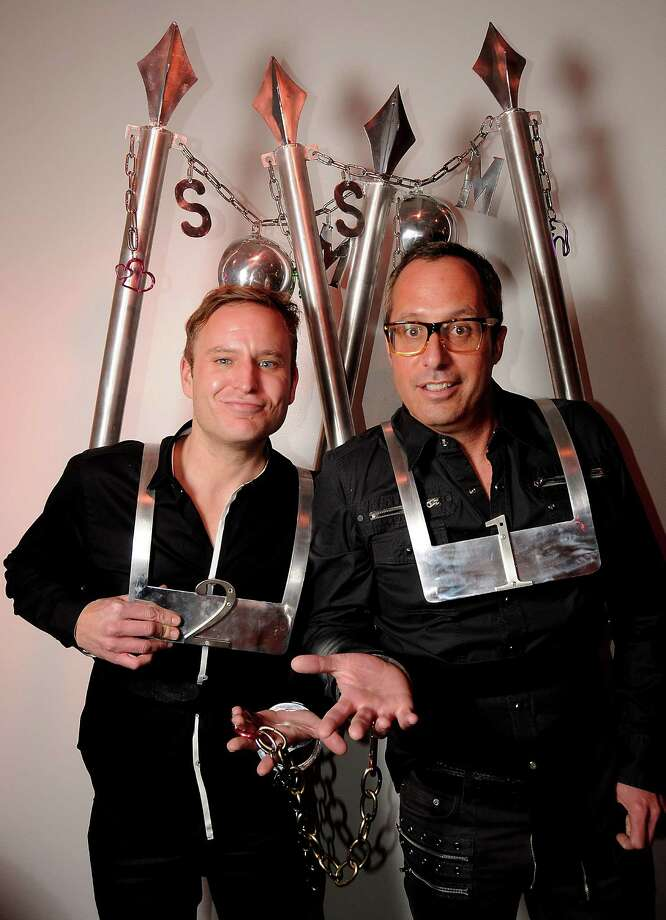 "Jason Reeves and Mark Sulivan at the Fresh Arts "" Ball and Chain Gala"" at the Winter Street Studios Friday Feb. 01, 2013.(Dave Rossman/ For the Chronicle) Photo: Dave Rossman, For The Houston Chronicle / © 2013 Dave Rossman"