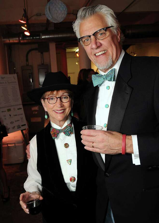 "Sandy and Jim Dimperio at the Fresh Arts "" Ball and Chain Gala"" at the Winter Street Studios Friday Feb. 01, 2013.(Dave Rossman/ For the Chronicle) Photo: Dave Rossman, For The Houston Chronicle / © 2013 Dave Rossman"