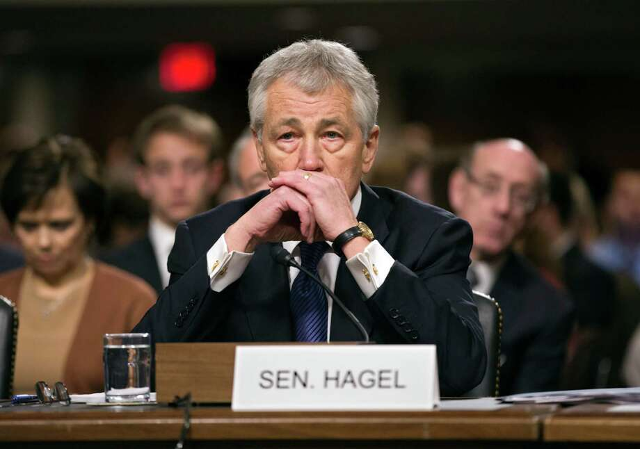 Republican Chuck Hagel has been known to be outspoken, but his critics lack a legitimate reason not to confirm him. Photo: J. Scott Applewhite, Associated Press / AP